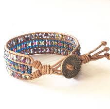 beaded leather cuff bracelet images Beaded pretty leather cuff bracelets ksvhs jewellery jpg