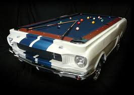 Table Pool Superb 1965 Shelby Gt 350 Pool Table