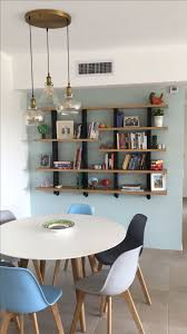 decor best floating bookshelves ideas with round writing desk and best floating bookshelves ideas with round writing desk and chairs plus bulb lighting for contemporary home design