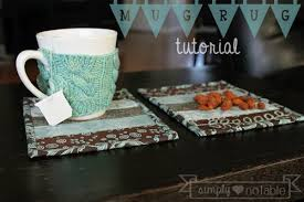 Mug Rug Designs Scrappy Mug Rug Tutorial Simply Notable