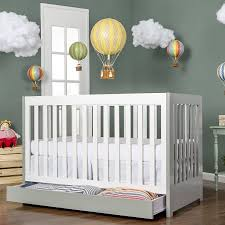 Convertible Cribs With Storage On Me 5 In 1 Convertible Crib Gray And White With