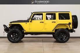 yellow jeep wrangler unlimited 2017 jeep wrangler starwood motors