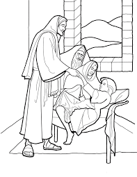 christ raising jairus u0027 daughter line art for primary kids from
