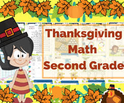 thanksgiving math for second grade 2nd grade math math