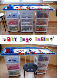Children S Lego Table Diy Lego Table Glue Dots Shelf Liners And Kitchen Drawers
