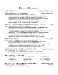 rutgers resume resume rob hoffman