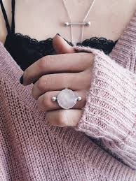 pink crystal rings images Sterling silver ring rose quartz ring ring crystal ring pink jpg