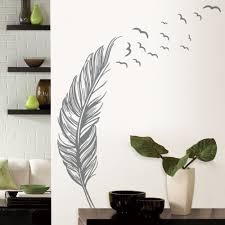 aliexpress com buy updated feather flying birds wall paper black aliexpress com buy updated feather flying birds wall paper black white pvc removable diy wall mural for room decoration vinyl art wall decals y 220 from