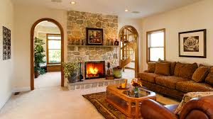 Living Room Wallpaper Gallery Photos Lounge Sitting Room Interior Fireplace Sofa Table 1920x1080