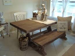 minimalist rustic kitchen table with bench seating design for