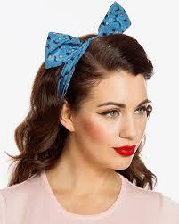 wire headband teal cat print wire headband vintage inspired fashion lindy bop