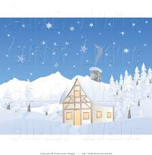 chalet house avenue clipart of a chalet house in a snowy mountain scene by