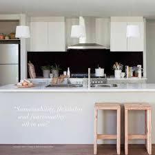Kitchens Collections Burbank Homes Olivine Kitchen White Kitchen With Black Bench