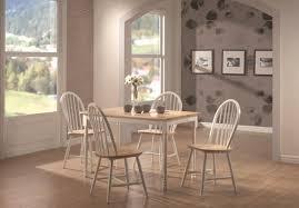 coaster damen white natural 30 x 48 rectangle leg dining table 4147