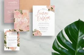 Customizable Wedding Invitations Floral Wedding Invitations Watercolor Wedding Invites Brush