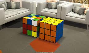 giant rubik u0027s cube table u0026 storage box scrambled or solved