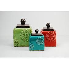 drew derose designs 3 piece kitchen canister set walmart com