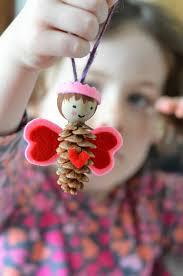dennenappel engeltje creatief pinterest nature crafts