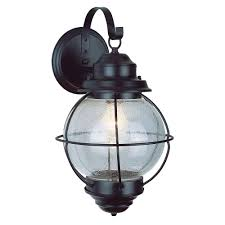 Vaxcel Nautical Lighting by Shown In Nautical Rust Finish And Clear Seeded Glass Mendocino