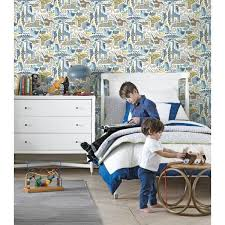 chambre de york animaux savane bleu collection dwell studio de york by initiales