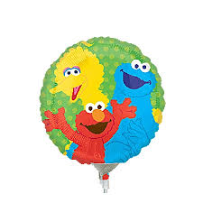 9in sesame street characters foil balloon