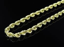 ladies necklace images Mens or ladies 10k yellow gold 4 mm hollow rope chain necklace 16 jpg