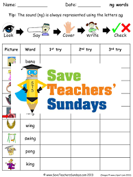 ng words spelling worksheets and dictation sentences for year 1 by
