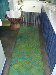 bath rug runner reversible best bathroom decoration