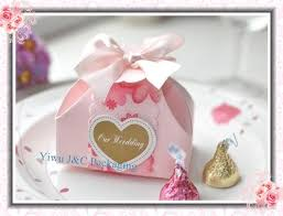 candy containers for favors free shipping 100pcs pink party favor boxes wedding candy boxes