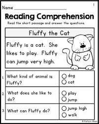 kindergarten reading comprehension passages set 1 freebie by - Kindergarten Reading Passage