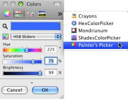 using the mac os x color picker robin wood 2009