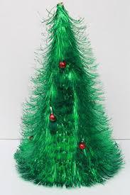 retro 60s vintage decoration fluffy green tinsel shag