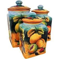 italian canisters kitchen 71 best italian majolica images on italian pottery