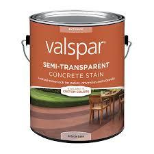 shop valspar tintable base semi transparent concrete stain and