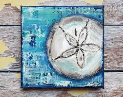 sand dollar painting etsy
