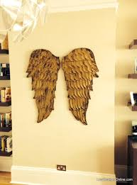 Angel Wings Home Decor by Angel Wings Textured Wood Wall Art Carved Wood Look Angel Wing