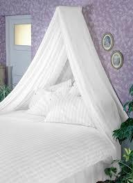 Kit Ciel Etoile White Bed Canopy Set Soft Sheer White Voile U0026 Rod Fixing Kit