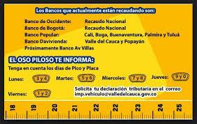 impuestos vehiculos valle 2016 bancos para el pago de impuestos de vehiculos en cali valle