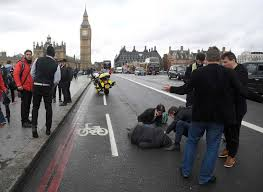 deadly attack near u k parliament car plows victims on