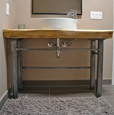 wood slab bathroom counter google search new home inspiration