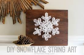 diy snowflake string art 18 easy to build christmas projects