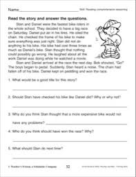 3rd grade reading comprehension questions story with comprehension questions 3rd grade reading skills