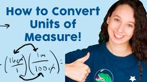 how to convert units of measure explanation u0026 practice problems
