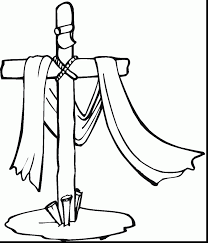 wonderful cross coloring pages printables with christian easter