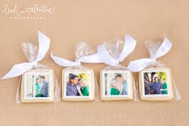 Church Favors by Custom Photo Cookie Wedding Favors