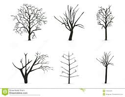 silhouette tree branches stock illustration image of decoration