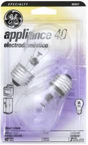 Refrigerator Light Bulbs Kroger Ge 40 Watt A15 Appliance Light Bulbs