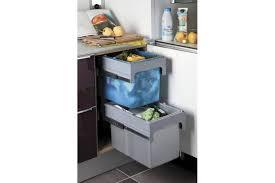 poubelle cuisine tri s駘ectif 2 bacs poubelle tri selectif 2 bacs sur coulisses accessoires de cuisines