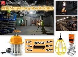 temporary job site lighting 7200lm temporary construction lighting strings corncob led