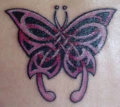 celtic butterfly with color tattoomagz